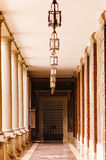 architektura za klasycznym szczegółu poduszek widok Zdjęcie Royalty Free