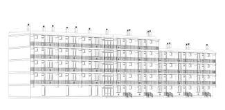 Architekturc$drahtfeld Plan Stockbild