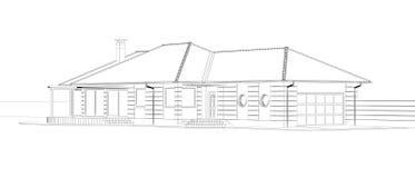Architekturc$drahtfeld Plan Lizenzfreie Stockfotos