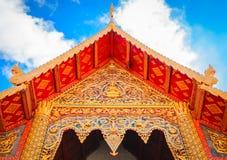 Architekturdach des buddhistischen Tempels Stockbilder