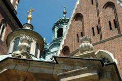Architekturdetail über Wawel-Kathedrale in Krakau, Polen Lizenzfreie Stockfotos