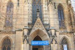 Architekturdetail der Kirche von St. Elizabeth in Basel, Swi Lizenzfreies Stockfoto