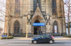Architekturdetail der Kirche von St. Elizabeth in Basel, Swi Lizenzfreies Stockbild
