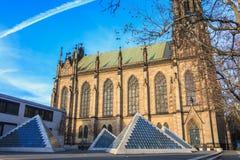 Architekturdetail der Kirche von St. Elizabeth in Basel, Swi Stockfotografie