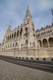 Architekturdetail des Parlamentsgebäudes in Budapest, Ungarn Stockfoto
