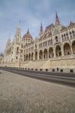 Architekturdetail des Parlamentsgebäudes in Budapest, Ungarn Stockfotos