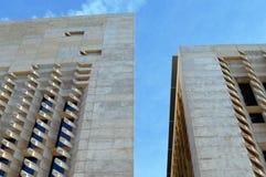 Architekturdetail des Parlamentshauses von Malta Lizenzfreies Stockfoto