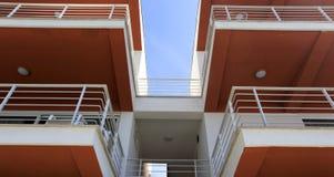 Architekturdetail eines modernen Gebäudes Stockbild