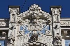 Architekturdetail in Riga Stockfotos