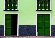 Architekturdetail in San Sebastian de la Gomera Stockbild