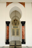 Architekturdetail von Ubudiah-Moschee bei Kuala Kangsar, Perak, Malaysia Stockfotografie