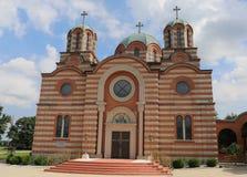 Architekturdetails des St. Elijah Serbian Orthodox Church lizenzfreie stockfotos