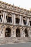 Architekturdetails nationalen Des Paris der Oper Großartige Oper Garnier Palace ist berühmtes neo-barockes Gebäude in Paris lizenzfreies stockbild