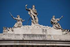 Architekturdetails und Skulpturen Stockfotografie