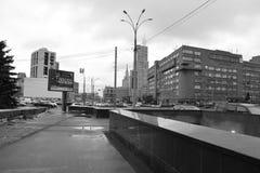 Architekturdetails von Gebäuden von Moskau Lizenzfreie Stockfotos