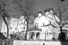 Architekturdetails von Gebäuden von Moskau Lizenzfreies Stockfoto
