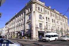 Architekturdetails von Gebäuden von Moskau Stockfoto