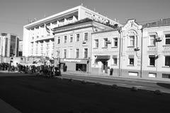 Architekturdetails von Gebäuden von Moskau Stockbilder