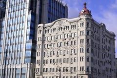 Architekturdetails von Gebäuden von Moskau Lizenzfreie Stockfotografie