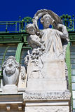 Architekturdetails von Palmenhaus Wien Lizenzfreies Stockbild
