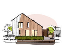 Architekturfarbvektorskizze Stockbild