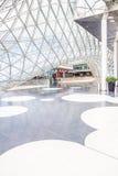 Architekturfunktionen des MyZeil-Einkaufszentrums in Frankfurt Lizenzfreies Stockbild