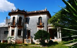 Architekturhaus Colonial Mexiko Lizenzfreies Stockbild