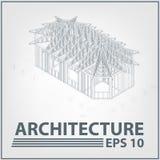 Architekturhausprojekt. vektorabbildung Lizenzfreie Stockfotos