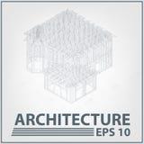 Architekturhausprojekt. vektorabbildung Stockfotos