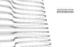 Architekturhintergrund 3d abstrakte Vektorillustration abstraktes futuristisches Design 3D für Geschäftsdarstellung Lizenzfreie Stockfotos