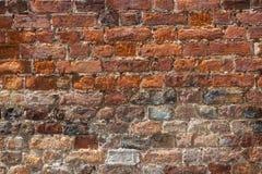 Architekturhintergrund - eine alte Backsteinmauer Lizenzfreie Stockfotografie
