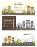 Architekturhintergrund Stadtbildfahne Stockfoto
