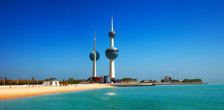 Architekturikonen des Kuwait City stockbild