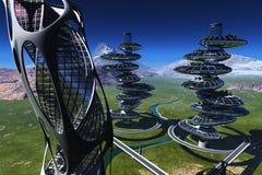 Architekturkomplex lizenzfreie abbildung