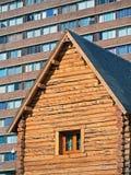 Architekturkontrast Lizenzfreies Stockfoto