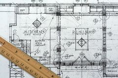 Architekturlichtpause Lizenzfreie Stockbilder