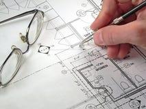 Architekturlichtpausen Lizenzfreie Stockfotos