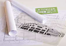 Architekturlichtpausen Stockfoto