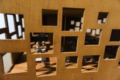 Architekturpapiermodell auf Anzeige Stockfoto