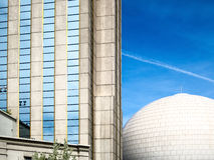 Architekturperspektive, Reno, Nevada Lizenzfreie Stockfotos
