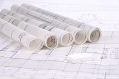 Architekturpläne Stockbilder