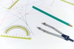 Architekturpläne und Projekte Lizenzfreie Stockbilder