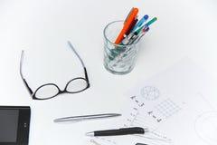 Architekturpläne und Projekte Stockfotos
