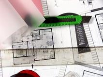 Architekturplanung Stockbild