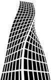 Architekturschattenbild und Farbton vektor abbildung