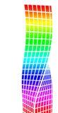 Architekturschattenbild und Farbton stock abbildung