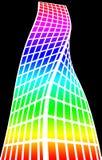 Architekturschattenbild und Farbton lizenzfreie abbildung