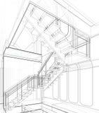 Architekturskizzen-Zeichnung vektor abbildung