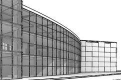 Architekturskizzengestalt lizenzfreie abbildung