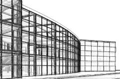 Architekturskizzengestalt stock abbildung